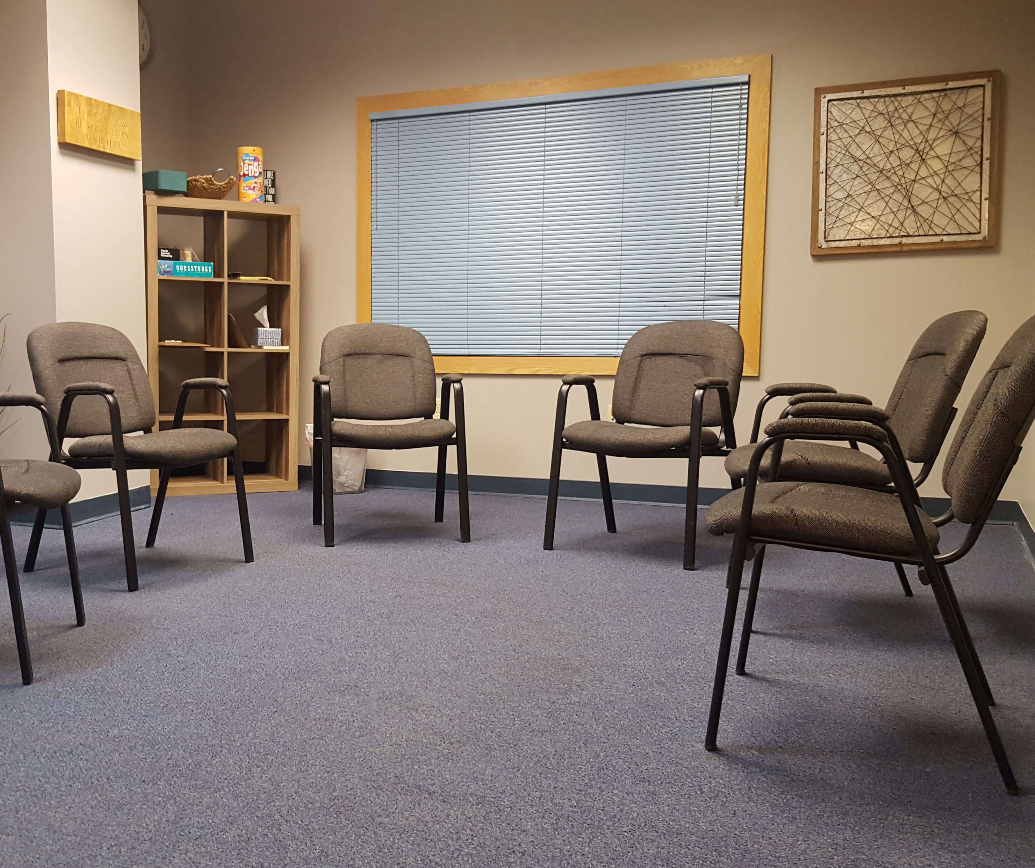 Liberty Bay Recovery group therapy room
