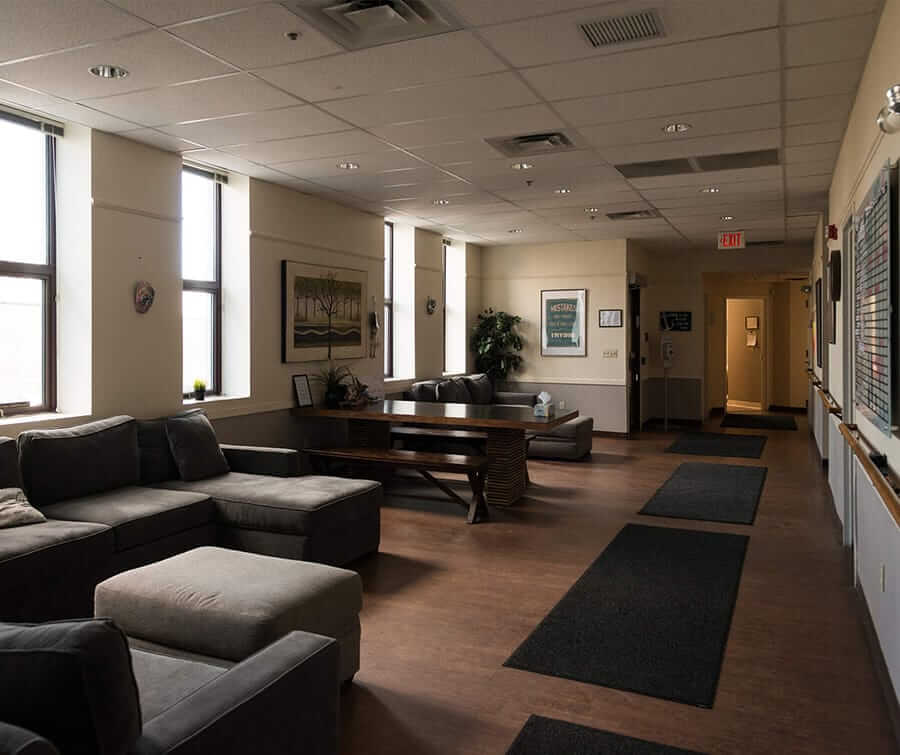 Open lounge area at Liberty Bay Recovery